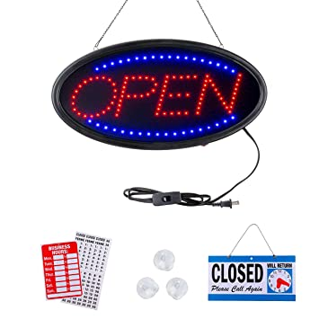 Amazon.com: Neon Open Sign by Smart Solutions Northwest ...