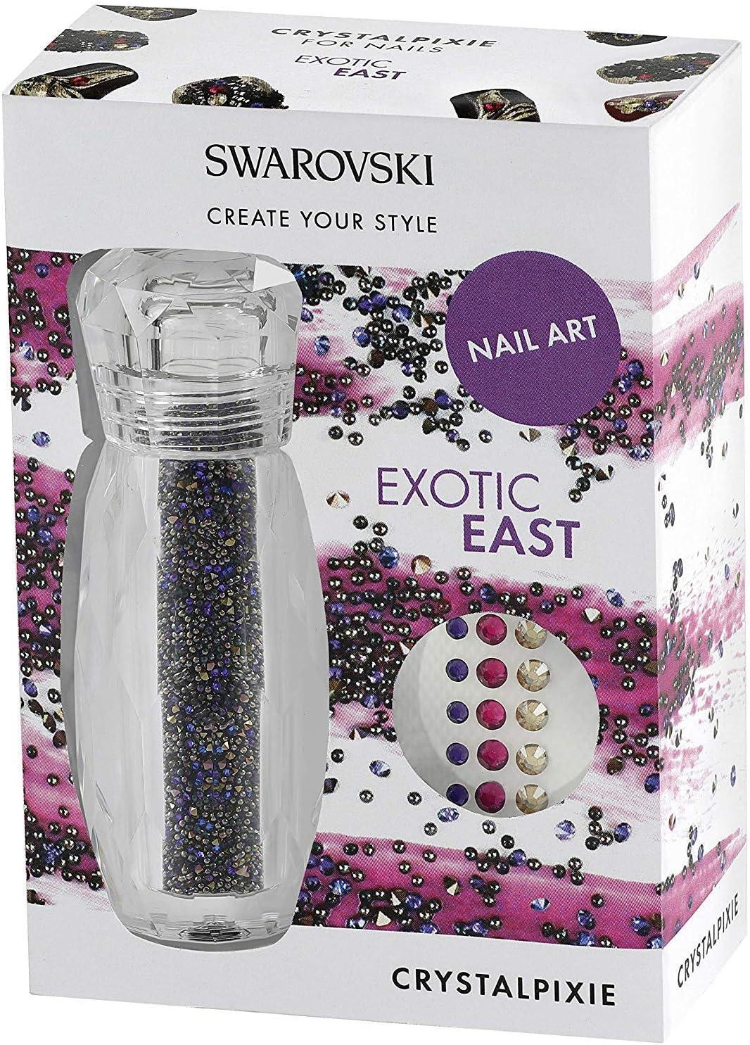 Manicura Swarovski crystalpixie Exótico EAST Uña Diseño Kit purpurina brillante REFLEJOS CRISTALES Salón de Colores Decoración Fiesta De Noche Boda Dama De Honor OCASIÓN belleza Productos