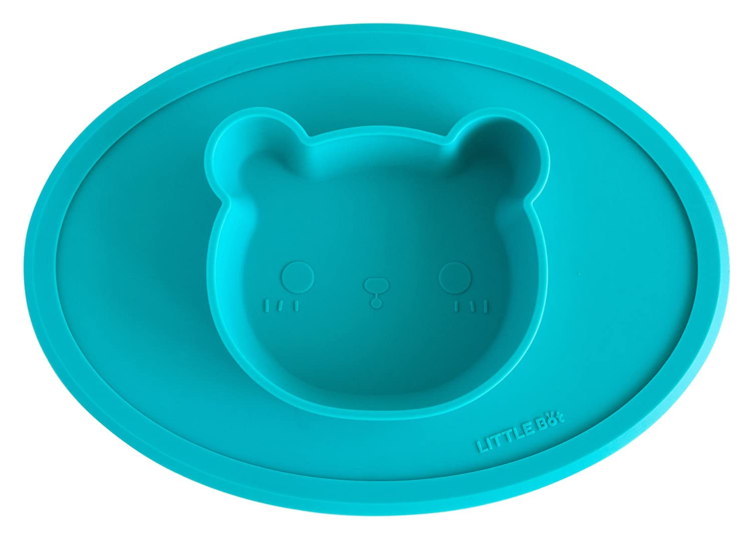 Little Bot Baby Placemat and Bowl one-piece, silicone, bear by Little Bot Little Bot Inc.
