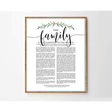 TimPrint The Family Proclamation Print LDS Family Proclamation Modern Family Proclamation LDS Print LDS Art Framed Print Wall Art