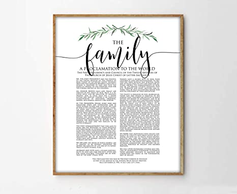 photograph regarding The Family a Proclamation to the World Free Printable identify : TimPrint The Spouse and children Proclamation Print LDS