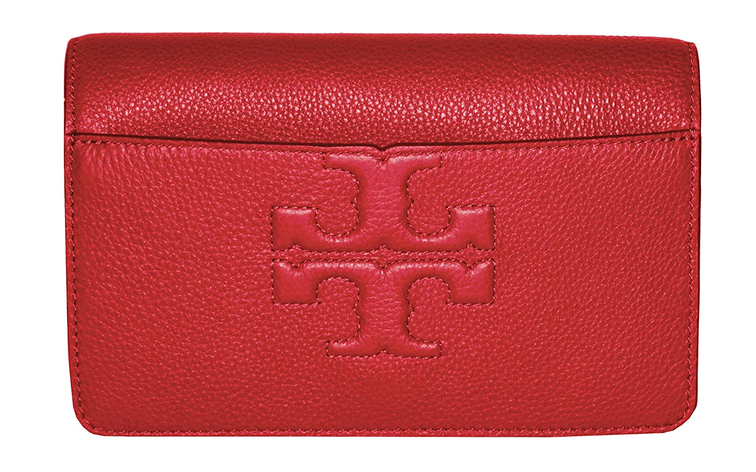 1be99724db8 Amazon.com  Tory Burch Bombe T Logo Small Leather Cross Body Bag Women s  Handbag (Liberty Red)  Shoes