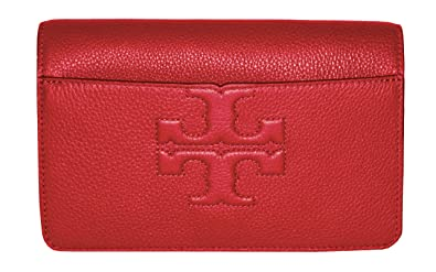 4a927d21f2a Amazon.com  Tory Burch Bombe T Logo Small Leather Cross Body Bag ...