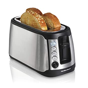 Hamilton Beach Extra-Wide Long Stainless Steel 4 Slice Toaster
