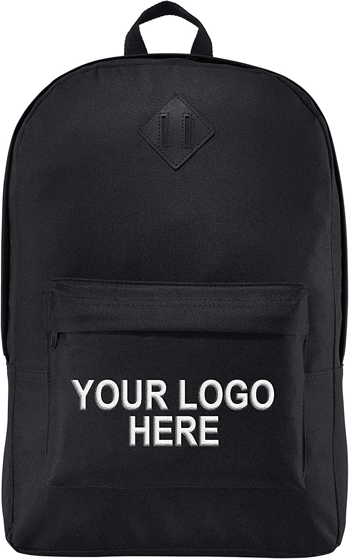 "Personalized Custom School Backpack Girls Boys - Add Your Logo (15"" Laptops)"