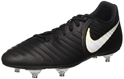 Tiempo Rio IV SG, Zapatillas de Fútbol para Hombre, Negro (Black/White/Black/Mtlc Vivid Gold), 43 EU Nike