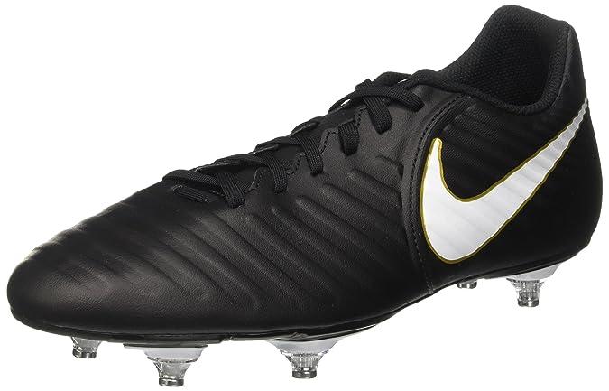 Nike Herren Tiempo Rio IV SG Fußballschuhe, Schwarz (Black/White/Black/Mtlc Vivid Gold), 42 EU