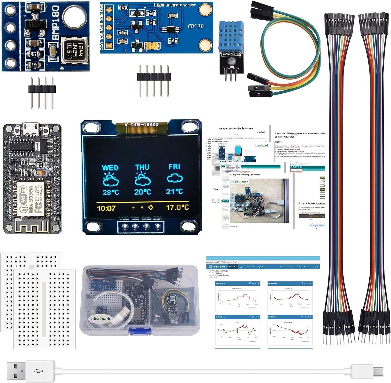 ESP8266 Kit de estación meteorológica con DHT11 Humedad de ...