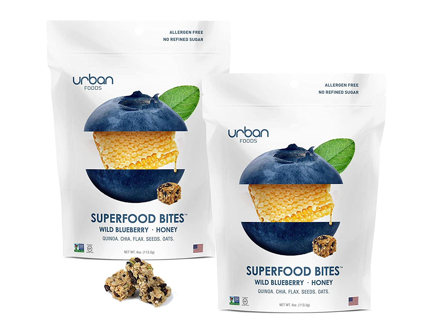 Urban Foods Super Food Bites - Snacks saludables con quinoa ...