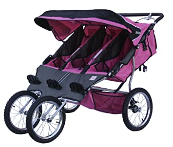 Amazon.com : BeBeLove USA Triple Jogging Stroller, Pink : Baby