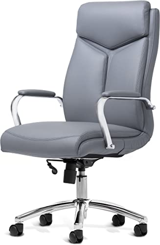 Office Factor Leather Executive Rolling Swivel Chair