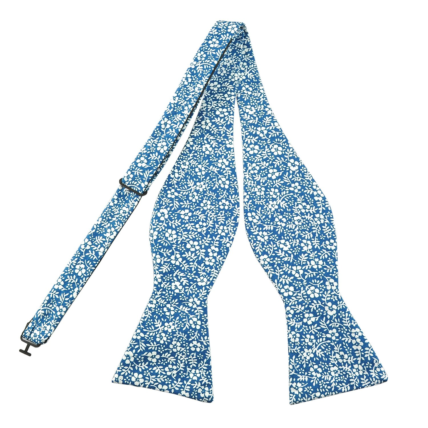 PenSee Mens Self Bow Ties Floral Pattern Printed Cotton Bowtie - Various Styles PSB03-034