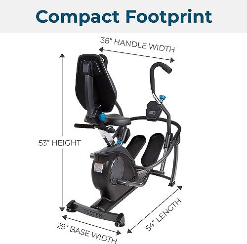 Compact Footprint of Teeter FreeStep Recumbent Cross Trainer