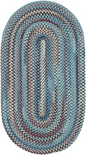 """product image for Capel Rugs Kill Devil Hill Oval Braided Area Rug, 3 x 5"""", Blue"""