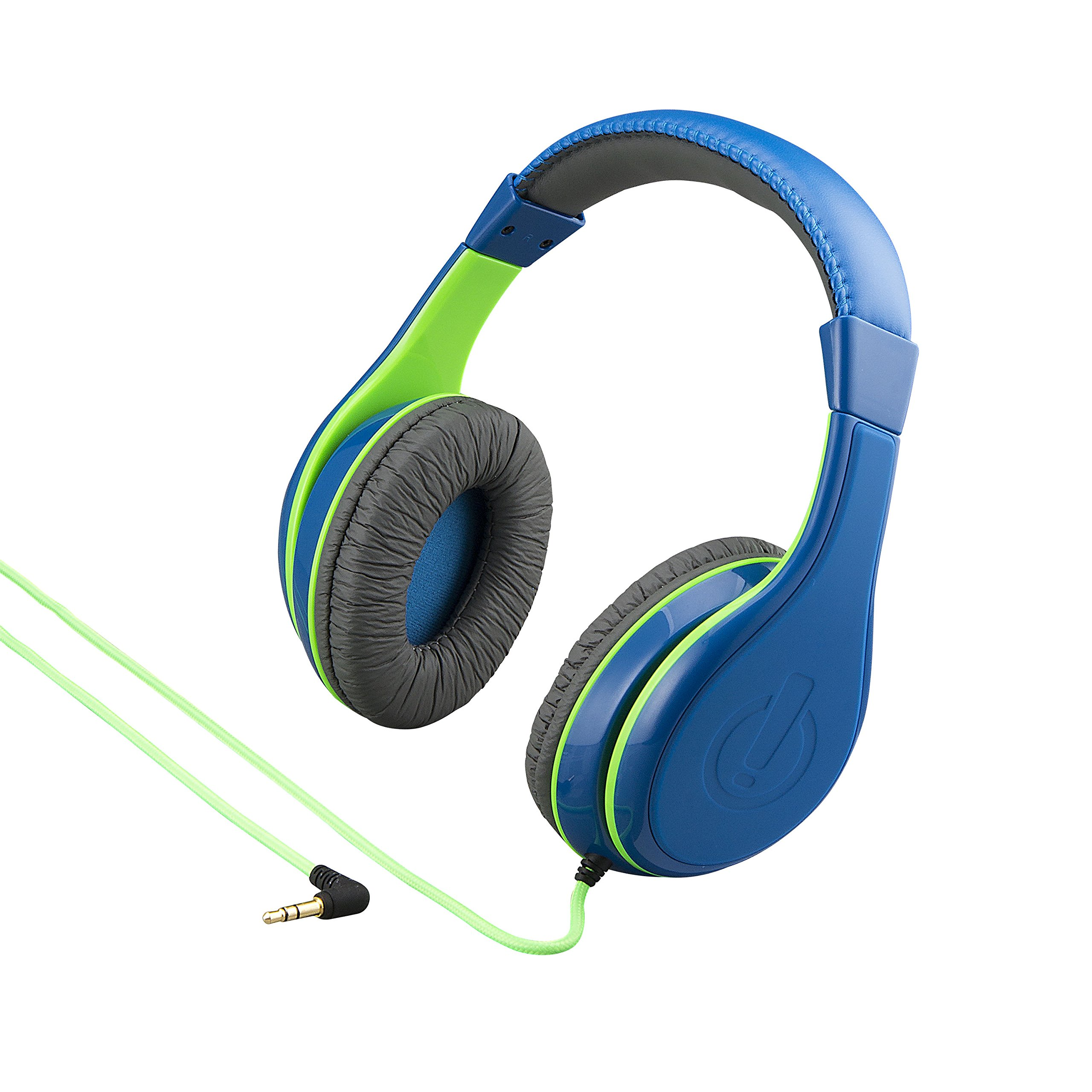 eKids New Kid Friendly Headphones Made Just for Kids with Built in Volume Limiting Feature for Safe Kid Friendly Sound (Blue)