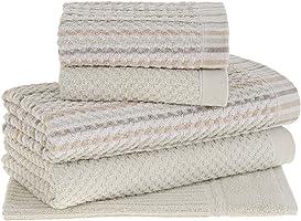 Jogo de Toalhas Buddemeyer, Yumi, 2 toalhas banho 90x 145 cm, 2 toalhas rosto 48x 80 cm, 1 piso 48x70 cm