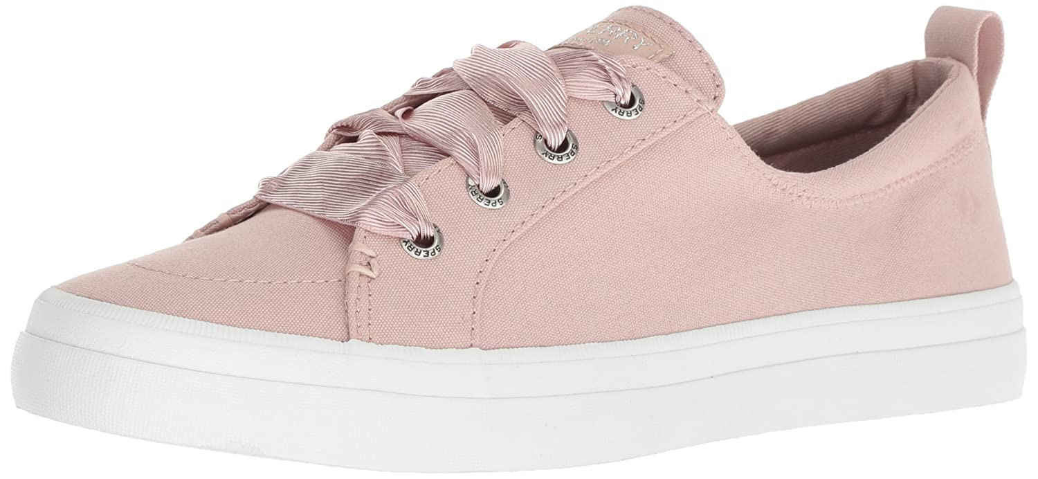 Sperry Top-Sider Women's Crest Vibe Satin Lace Sneaker B076JJ6L6Y W 080 Wide US|Rose Dust