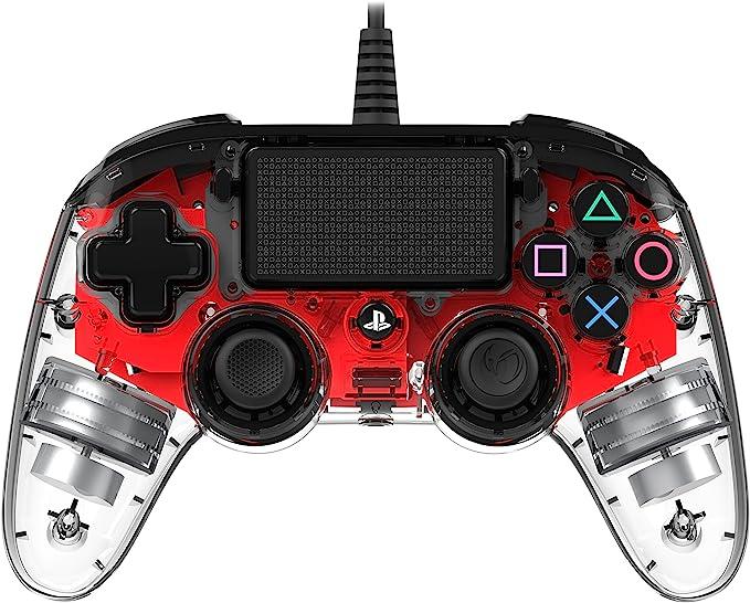 Nacon - Mando Compacto para PS4, color Rojo Cristal: Nacon: Amazon.es: Videojuegos
