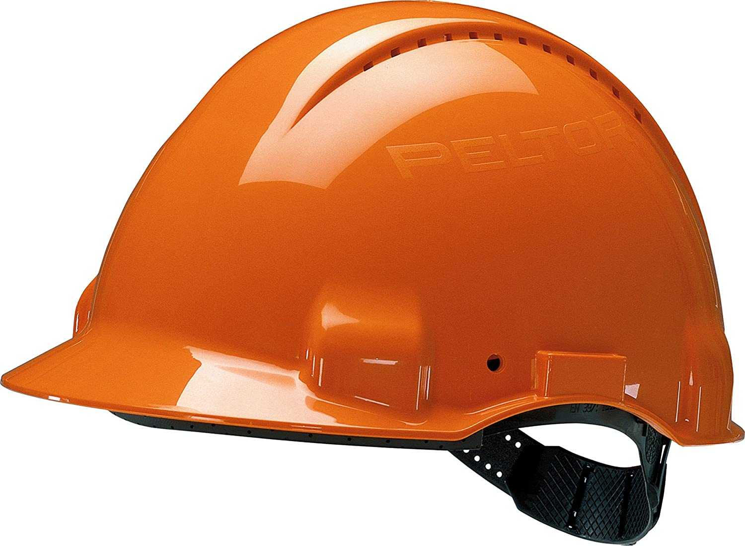 3M Hard Hat, Uvicator, Pinlock, Ventilated, Orange, G3000CUV-OR XH001674734