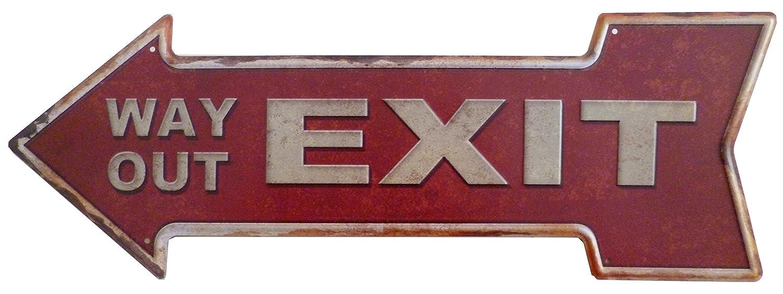 Desconocido Cartel de Chapa Flecha Nota Placa Retro Vintage ...