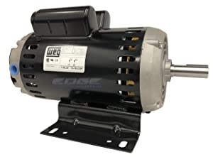 WEG 00636OS1XCD182/4Y ODP Compressor Duty Definite Purpose Motor, 6.4 HP, 1-Phase, 3600 rpm, 240 V, 60 Hz, 182/4Y Frame