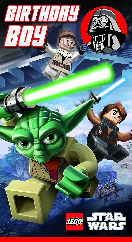 Lego Star Wars - Tarjeta de felicitación de cumpleaños para ...