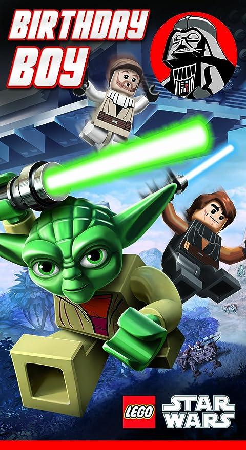 Carte D Anniversaire Star Wars.Lego Star Wars Carte D Anniversaire Pour Garcon Amazon Fr