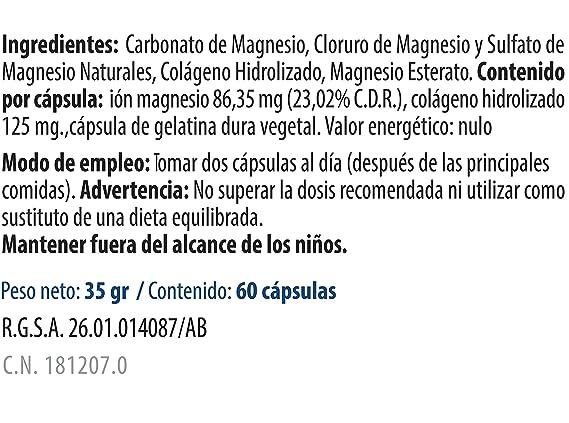 MSI Bienestar Magnesio 100% Natural con Colágeno - 60 ...