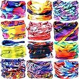 6pcs/8pcs/9pcs/12pcs Wide Headbands for Men and Women-Yoga Sports Wide Headwear Bandana balaclava Headwrap Face Mask Necker Warmer Helmet Liner 16 in 1 Multifunctional Headbands