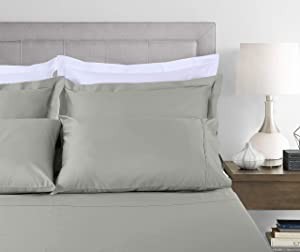 800 Moonrock Grey Queen Sheets with Matching Additional Pillowcases