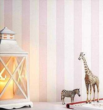 Newroom Kindertapete Rosa Streifen Linien Kinder Papiertapete