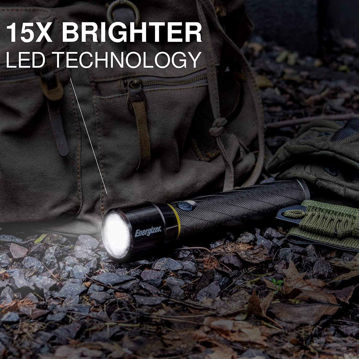 Super Bright Energizer Advanced LED Flashlights Aircraft Grade Metal Tactical Flashlight Batteries Included USB Rechargeable or AA Battery Option IPX4 Water Resistant