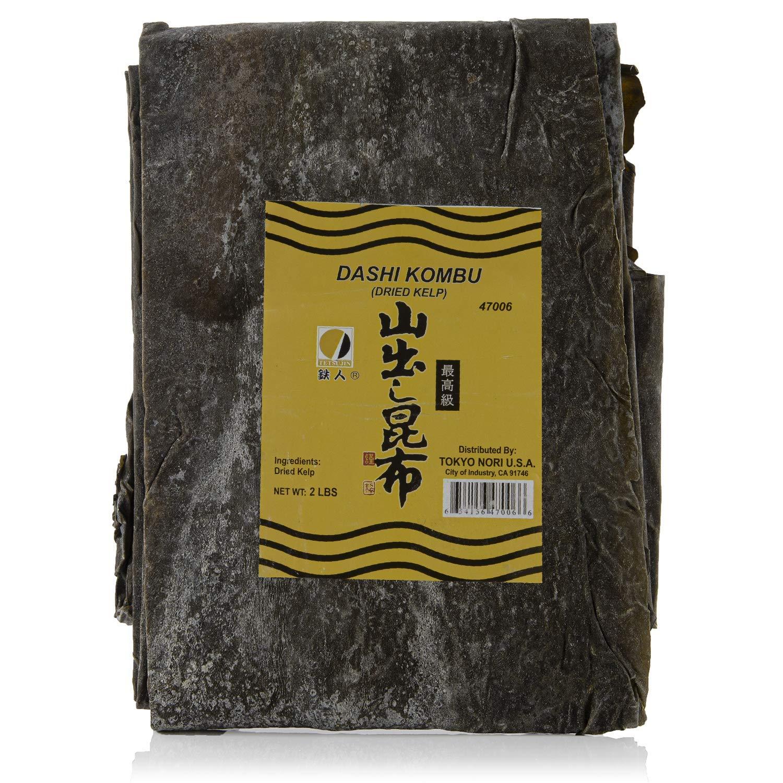 Premium Dried Seaweed for Dashi, Kombu (Kelp) in Bulk   2 lb - 32 Oz