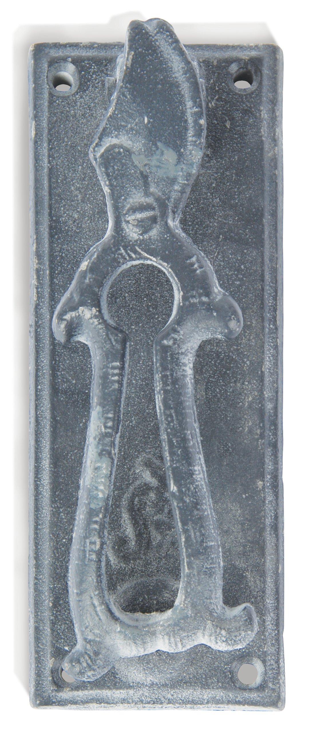 Esschert Design USA 8371 Secrets du Potager Pruning Scissors Door Knocker, Grey Finish