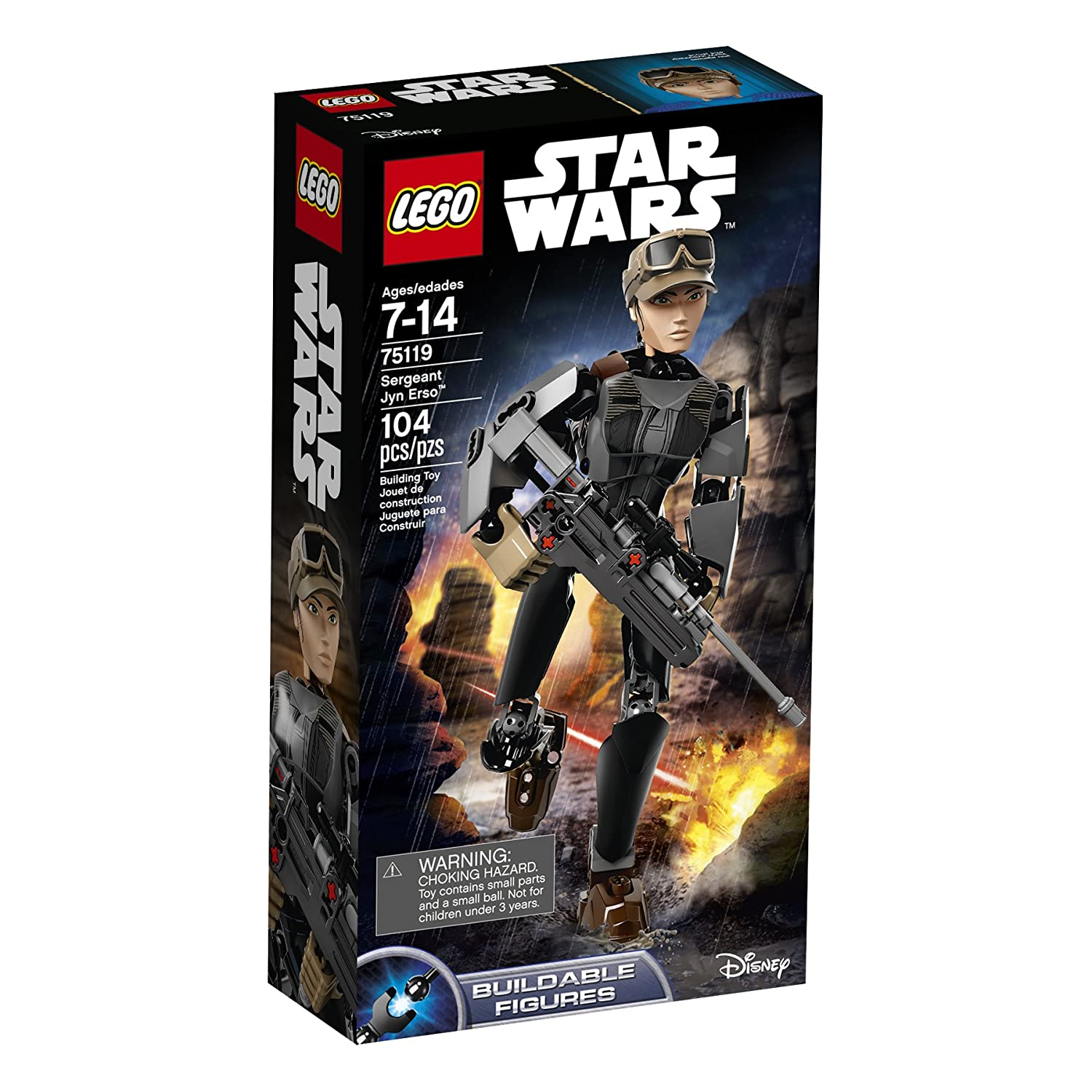 LEGO Star Wars Sergeant Jyn Erso (75119) Speed Build Video