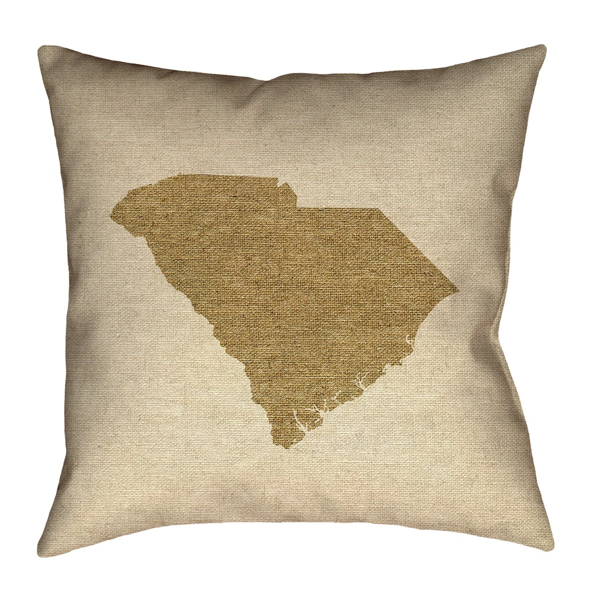 ArtVerse Katelyn Smith South Carolina Canvas 26 x 26 Pillow-Cotton Twill Double Sided Print with Concealed Zipper /& Insert