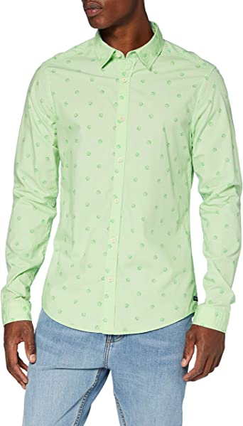 Scotch & Soda Light Weight Long Sleeve Shirt with Prints Camisa para Hombre: Amazon.es: Ropa y accesorios