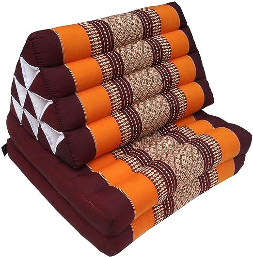 Guru Shop Thai de cojines, cojín triangular, Kapok, cama de ...