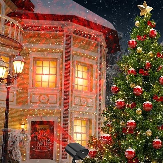 a8093d3c684 Luces de Proyección Navidad Proyector de la Navidad LED Iluminación de  Paisaje IP65 Impermeable Lámpara Luz Efecto ...