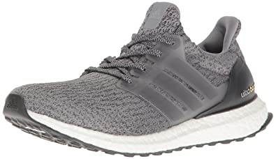 adidas Performance Men\u0027s Ultraboost Running Shoe, Grey/Grey/Dark Grey  Heather, 4