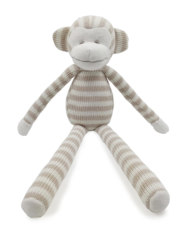 Kiyi-Gift Baby-Tröster Spielzeug   sehr weiches Lange Beine Affe Plüschtier für Baby / Säugling / Kleinkind   Bio-Baumwolle stricken KY12AK3503