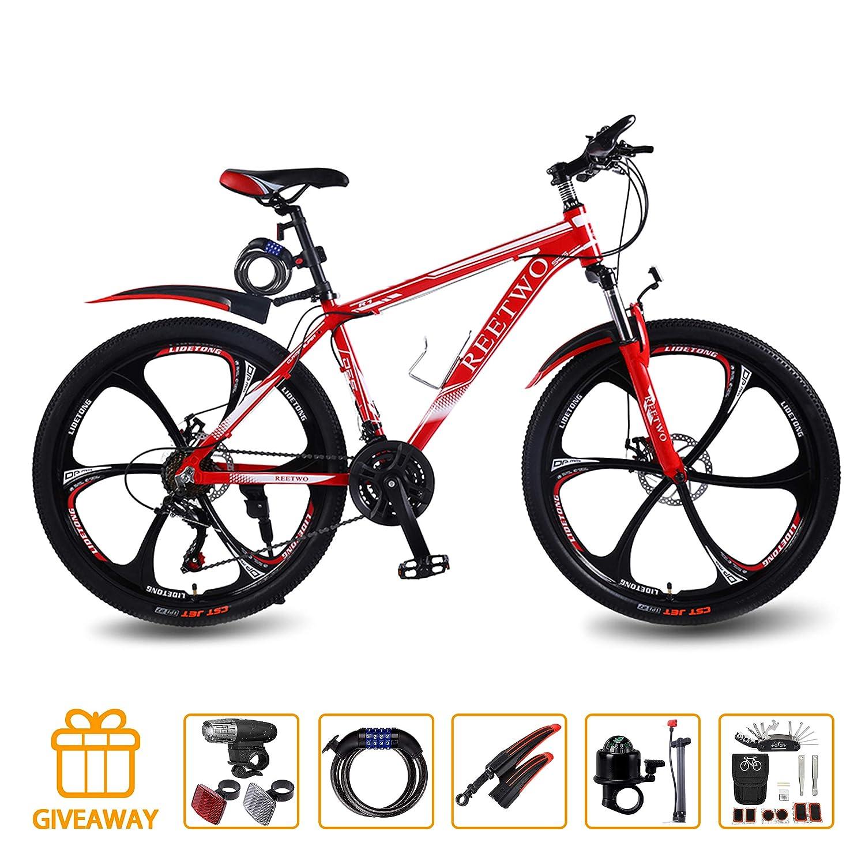 REETWO Bicicleta Hombre Montaña, Bicicleta Montaña 26 ...