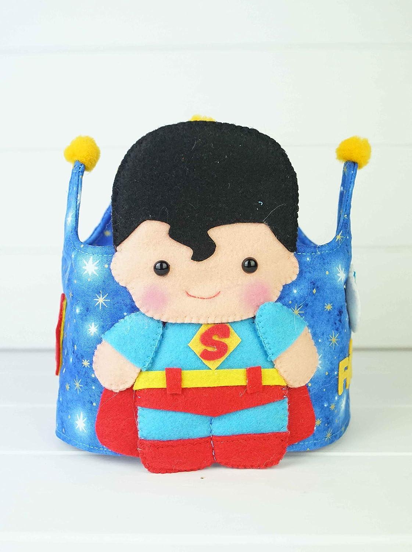 Corona Cumpleaños Tela Reverisble Superman: Amazon.es: Handmade