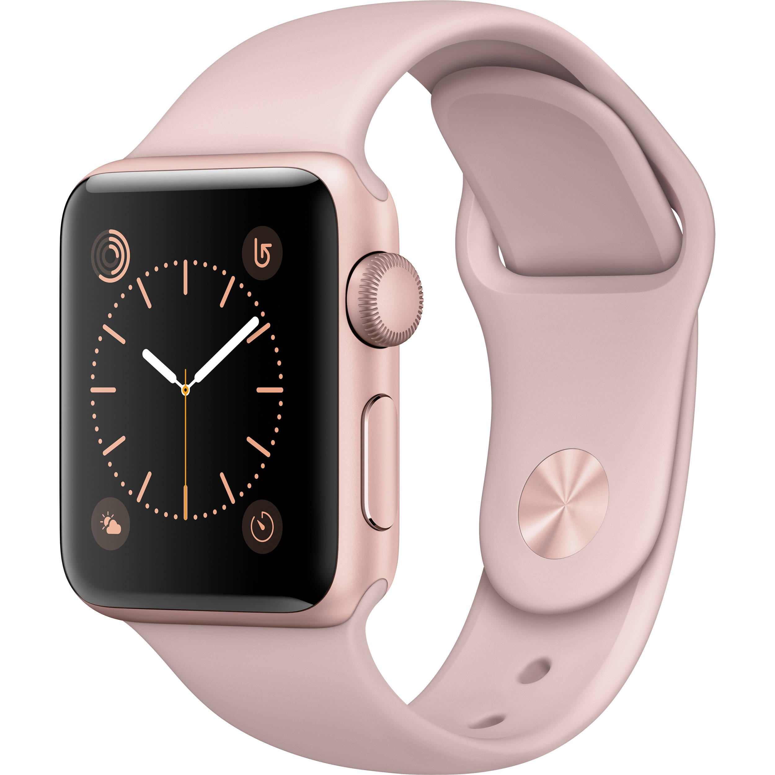 Renewed Apple Watch Series 2, 42mm Rose Gold Aluminum Case with Pink Sand Sport Band
