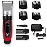 Elehot Hair Clipper Trimmer Cutting Kit for Men Rechargeable, 2 Replaceable Batteries, Professional Ceramic Blade, Cordless