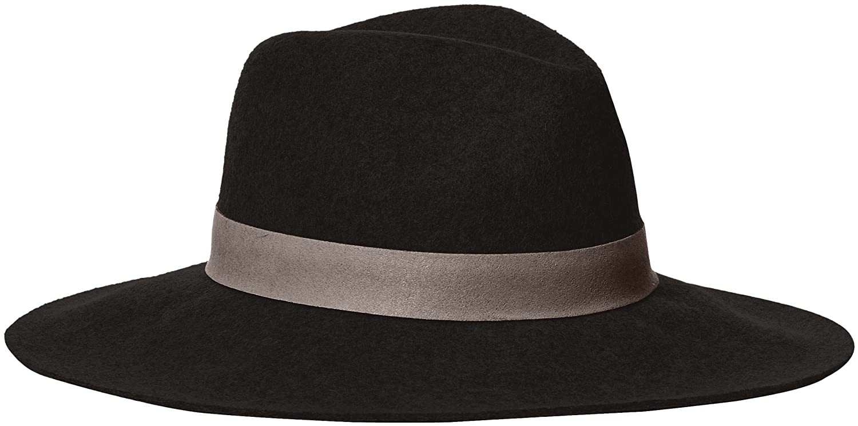 Michael Stars Women's Midnight Ride Wide Brim Wool Felt Hat Black One Size MS16403