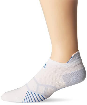 new concept 5c110 fd50f Image Unavailable. adidas Energy Running Single No Show Socks, White Bright  Royal Pearl Opal,