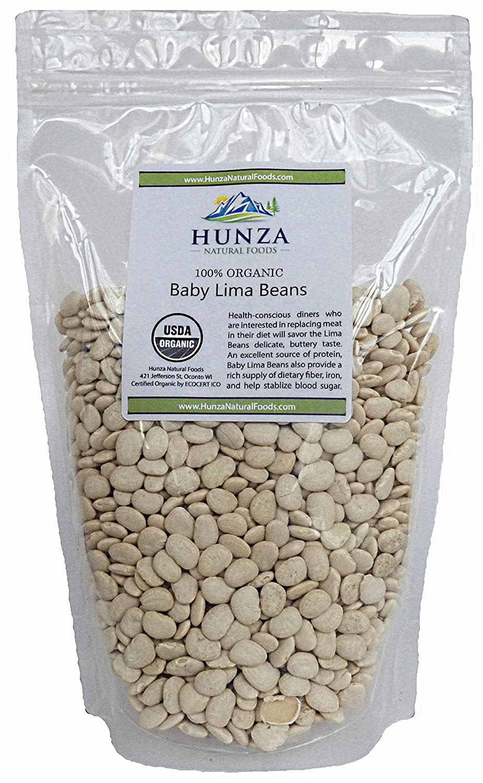 Hunza Organic Baby Lima Beans (2 lbs)