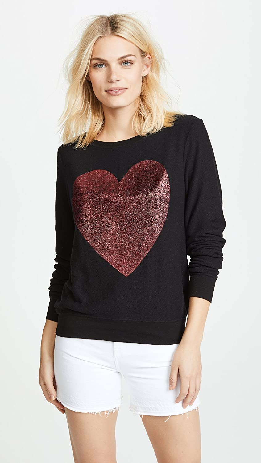 8f031a77d0 Wildfox Women s Sparkle Heart Baggy Beach Top at Amazon Women s Clothing  store