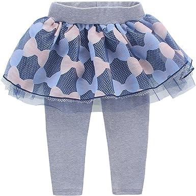 DEBAIJIA Leggings Pantalones De Bebé Niñas con Falda Tutú Tul ...